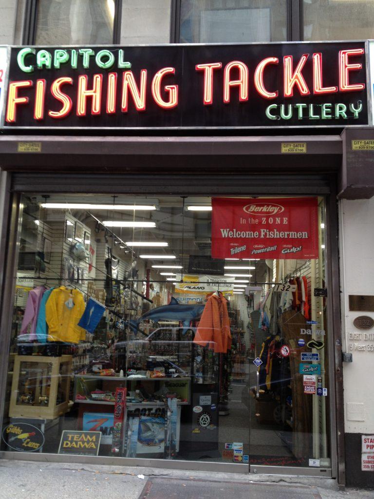 Bra fiskeaffär i NYC