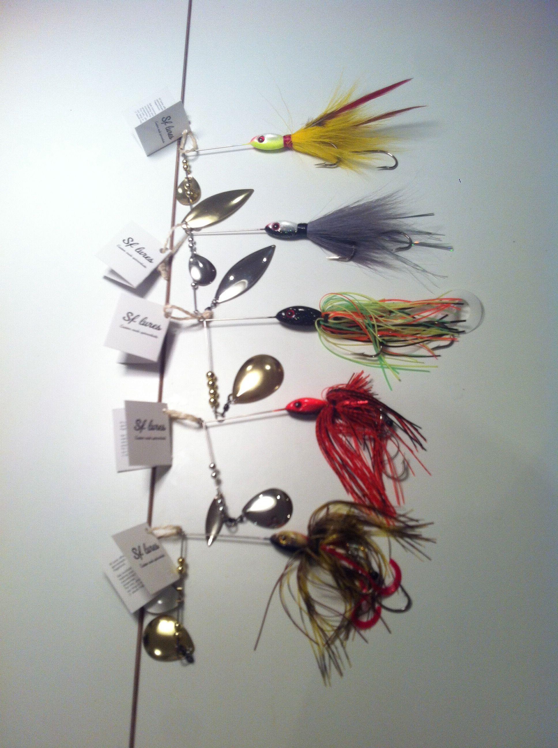 5 nya favoriter - 2 bucktail 55+, 2 rubberskirt 55+ och en 82+. Gäddorna kommer älska detta