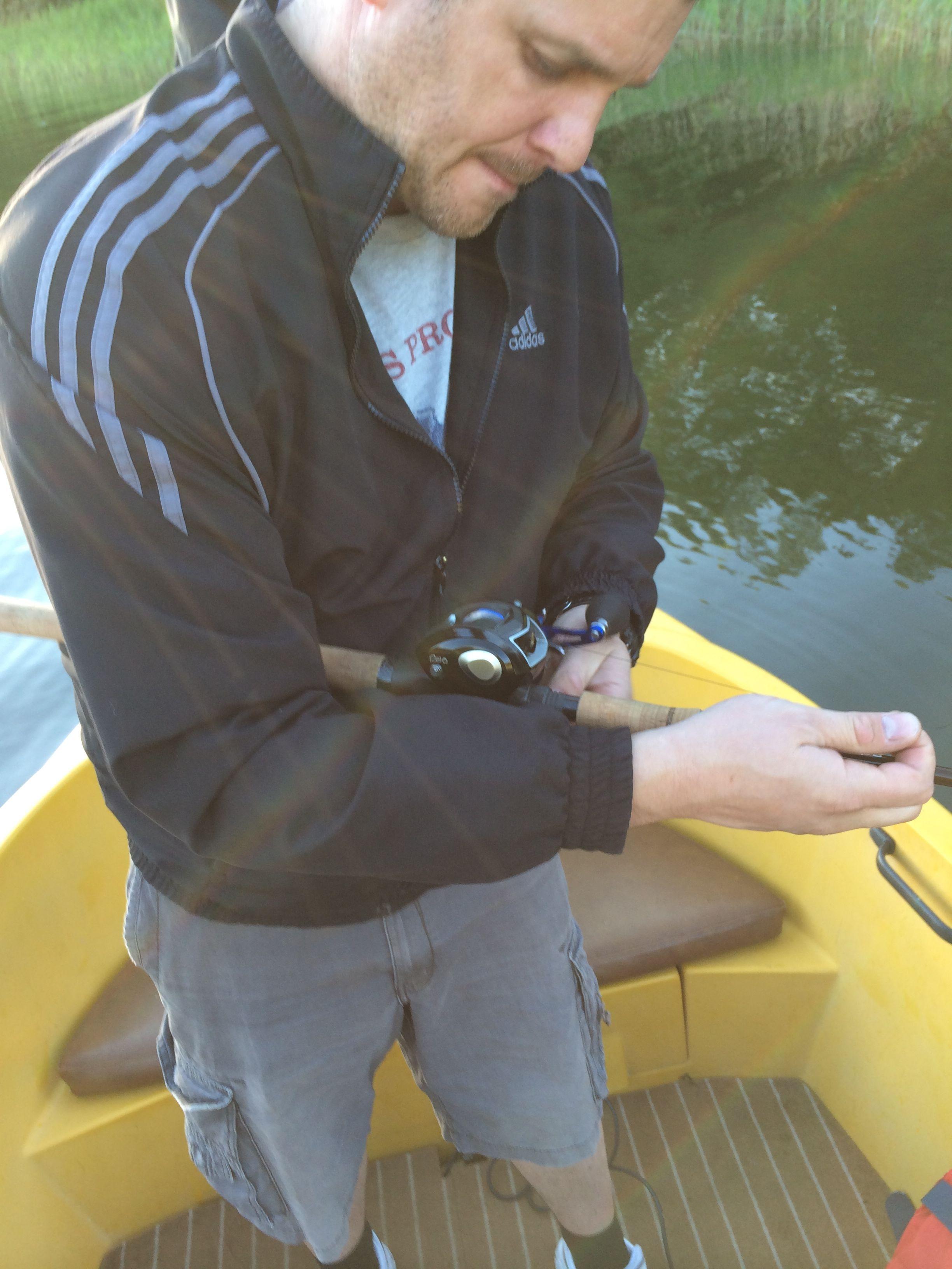 Nämen ojdå - trassel i rullen:-) Även proffs kan få ett professional overrun ibland... Fiska strulfritt, kör haspel :-)