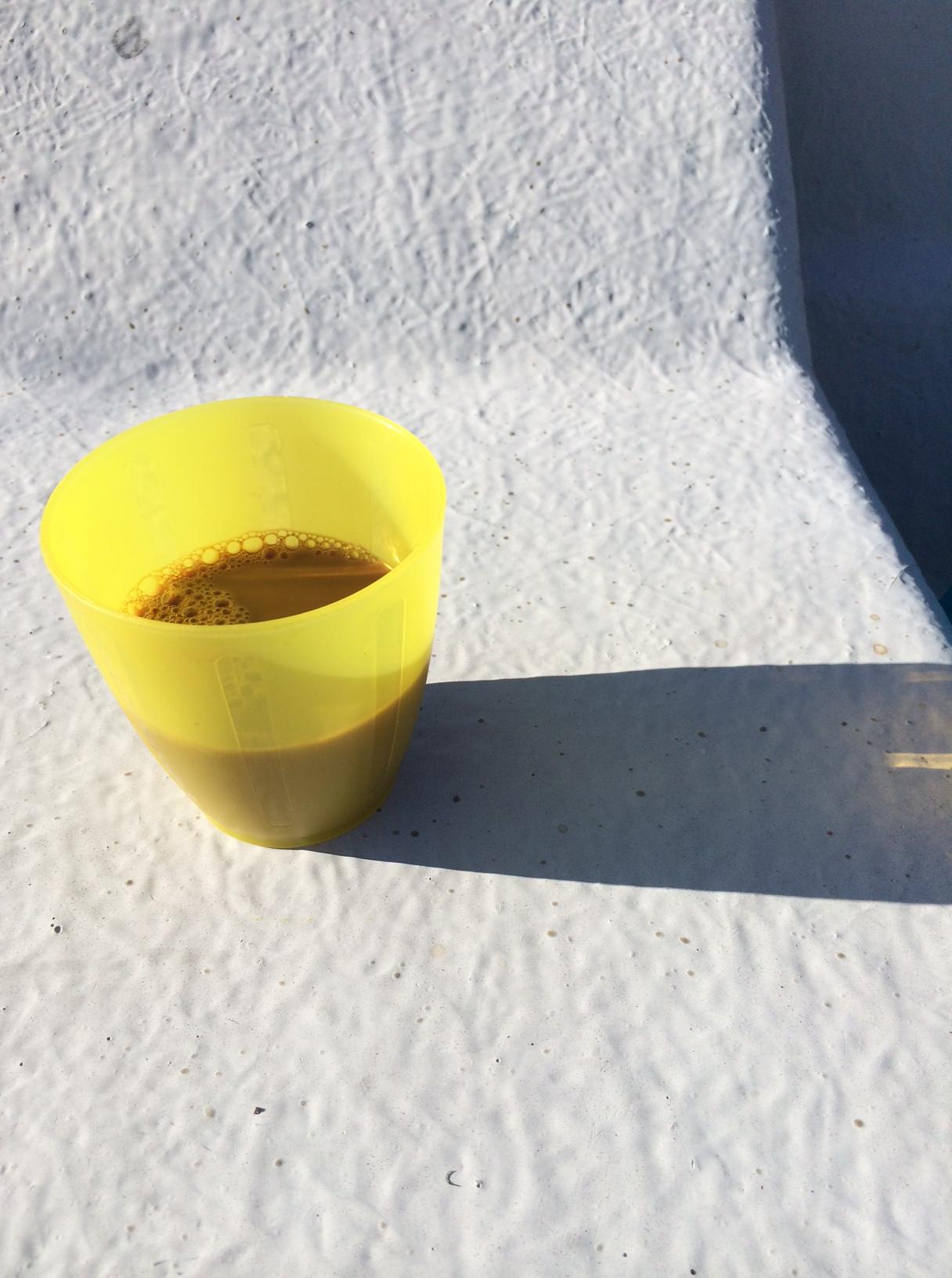 Kaffet var med såklart, ingen tur utan kaffe.