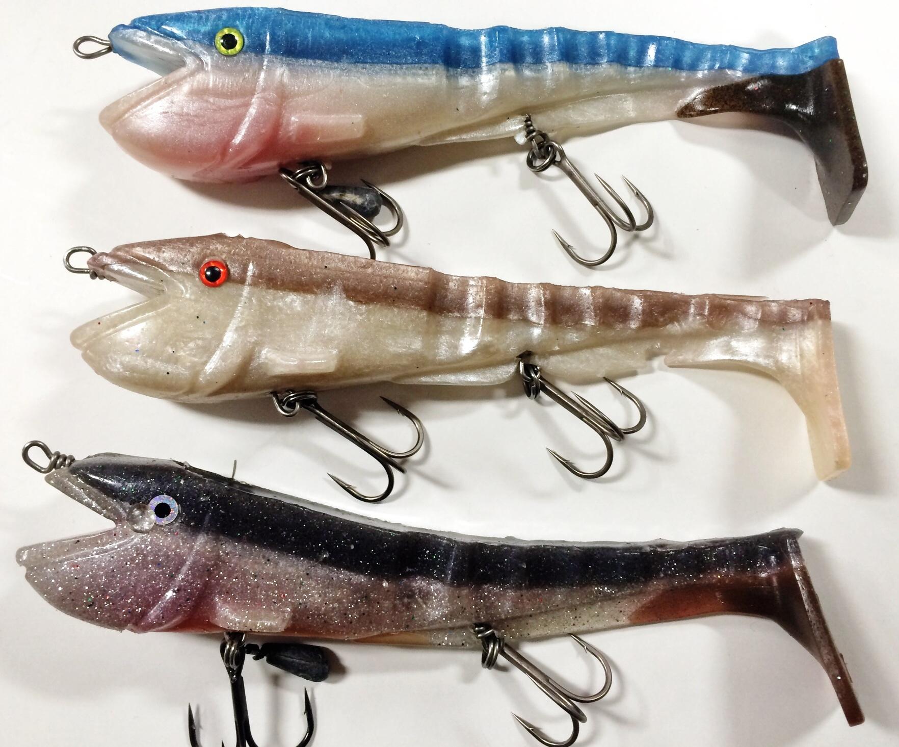 Mina egna Lupus som kommer fiskas ganska högt upp i vattnet. Det trycker mycket vatten och är bred så den kommer synas underifrån