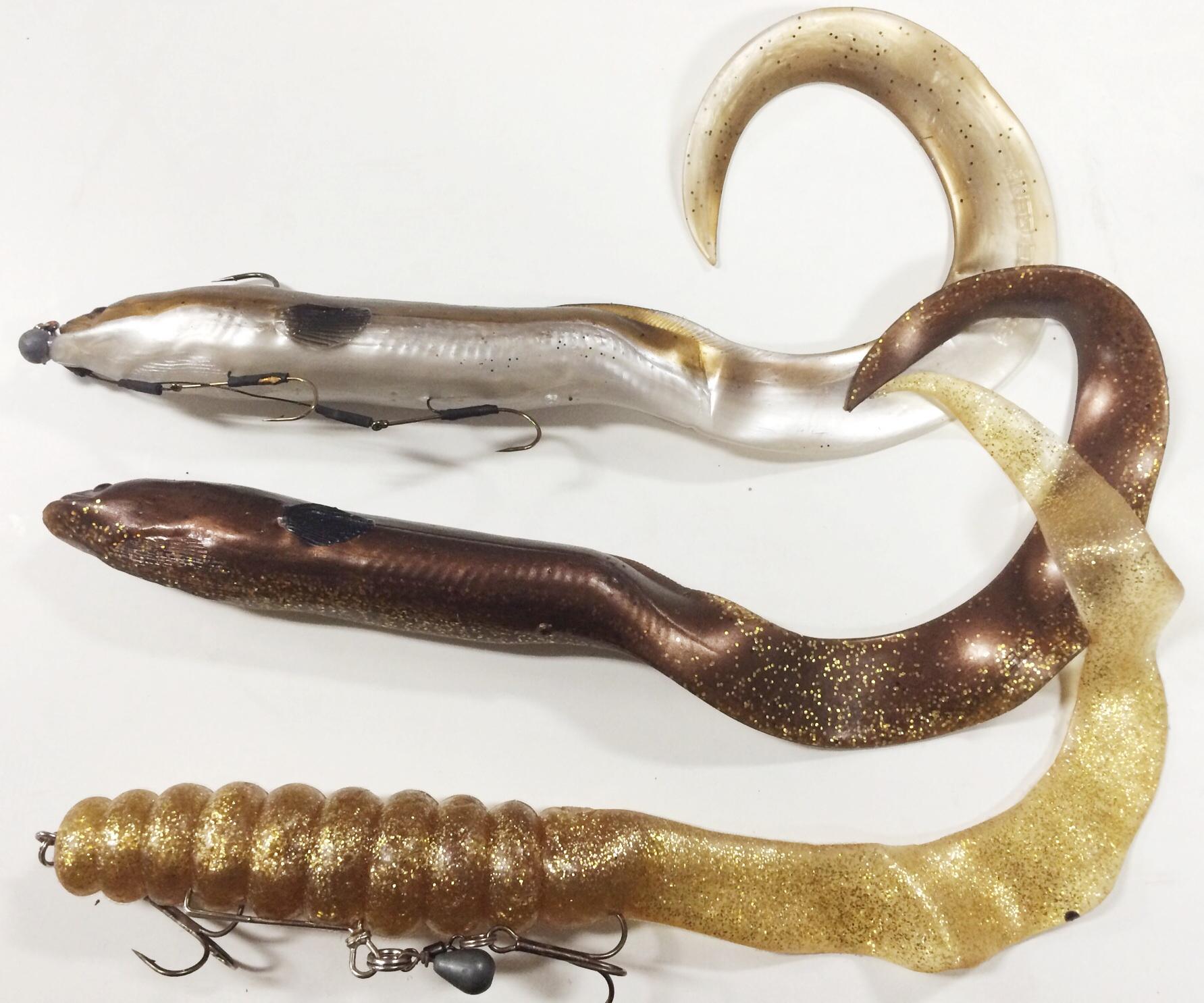 Real eel och en jättesnabel. Jag har ju tidigare haft sjukt bra fiske på Real Eel så det kommer jag tro på