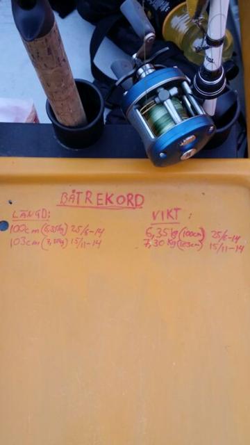 Nytt båtrekord för Jakob, och personligt. 103 cm & 7,3 kg