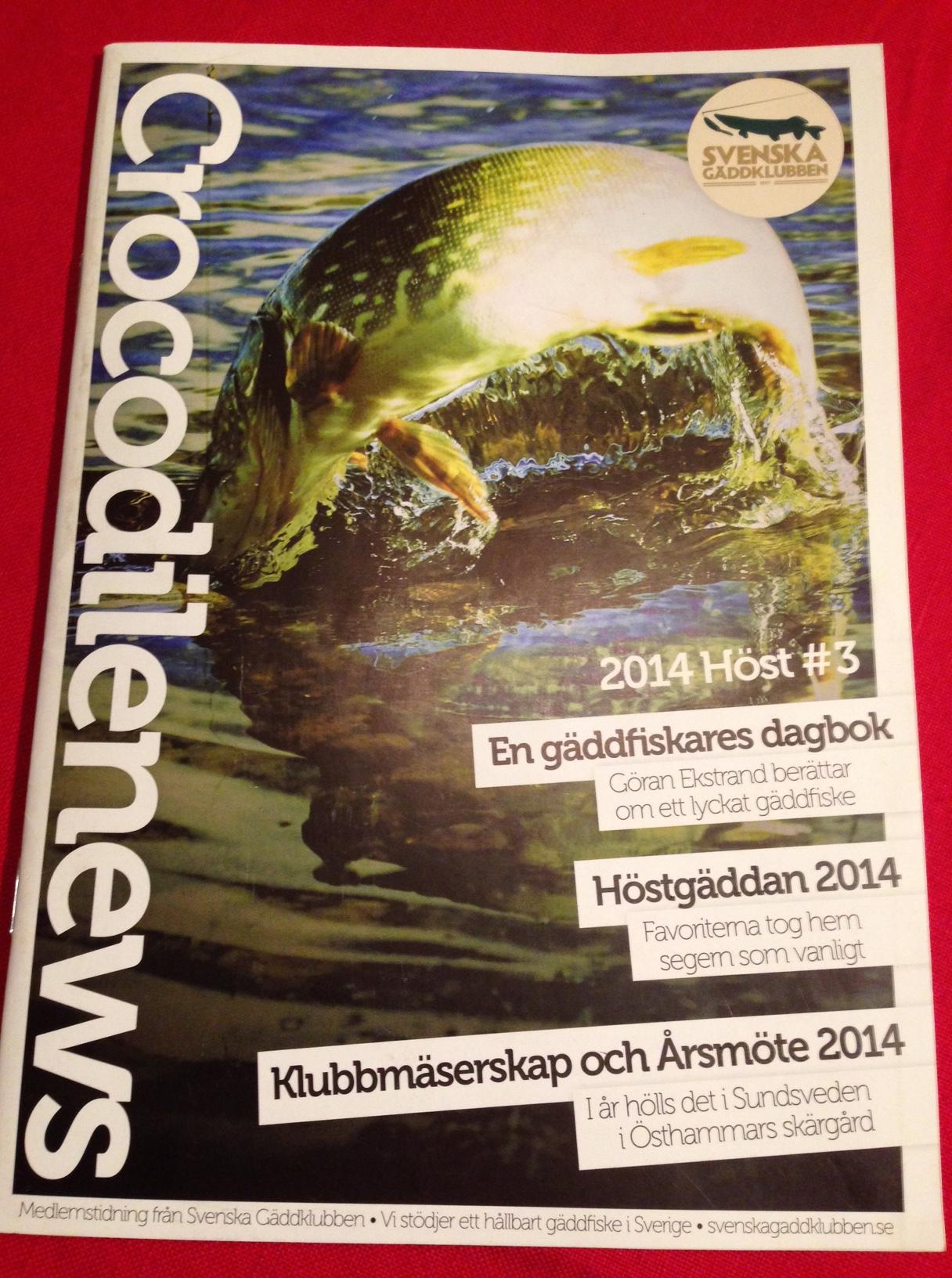 Crocodilenews - Grym medlemstidning som du bör sponsra om du gör pengar på Gäddfiske, och som du får hemburen som medlem.