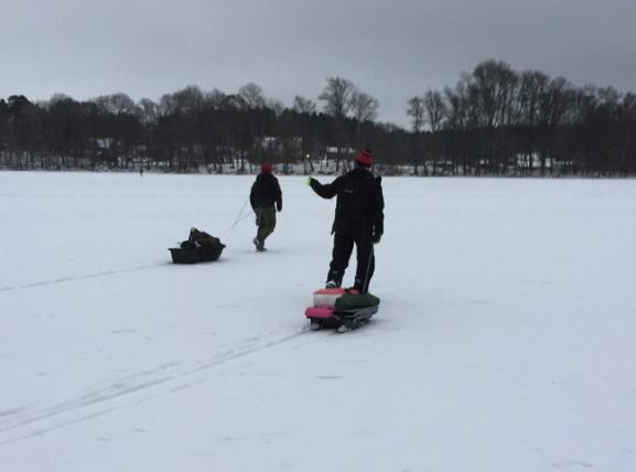 Oskar och Erik på isen